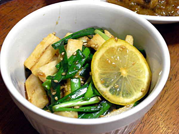 ニラと長芋のサラダ