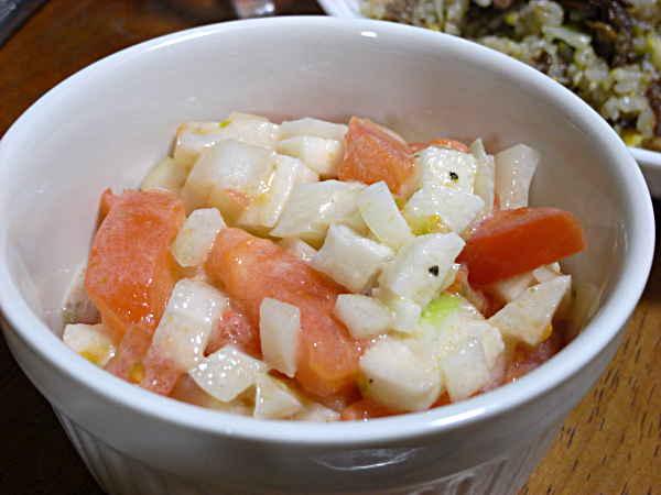 トマト長芋玉ねぎのサラダ